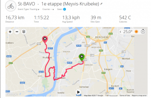 Fietstocht 2017 1e etappe